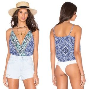 Lovers + Friends Vision Cami Bodysuit Medina Scarf